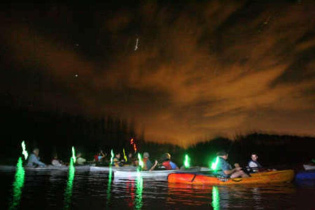 Bioluminescent Kayaking in Canaveral National Seashore