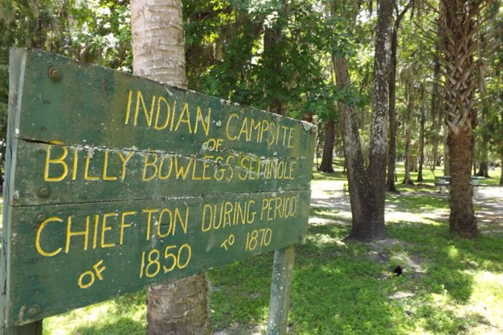 Indian Campsite of  Former Chiefton Billy Bowlegs Seminole