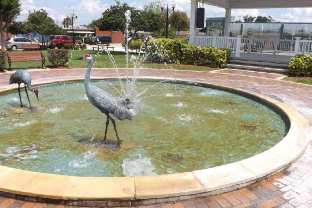 Water fountain at the Wauchula Heritage Park
