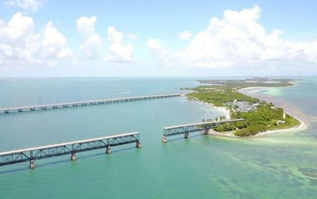 Bahia Honda Bridge, aerial view