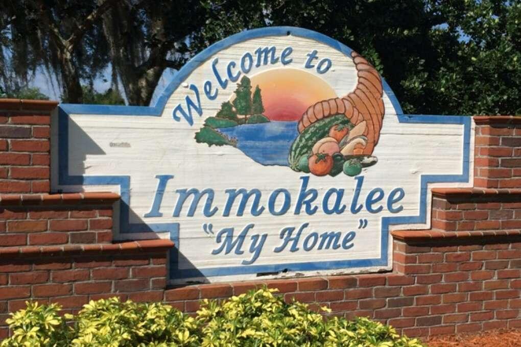 Immokalee Welcome Sign