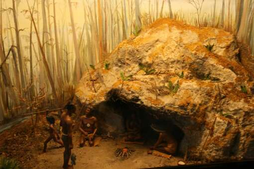 A diorama at the Florida Caverns State Park visitor center depicts what life was like for the park's early Native American inhabitants.