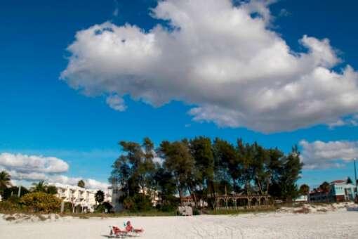 Bradenton Beach on Anna Maria Island offers wide swaths of sugary sand with an old Florida feel.