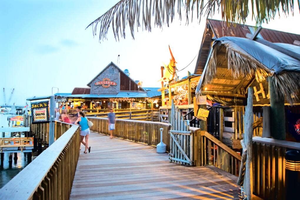 John's Pass Marina on Treasure Island has island-style shopping and dining.