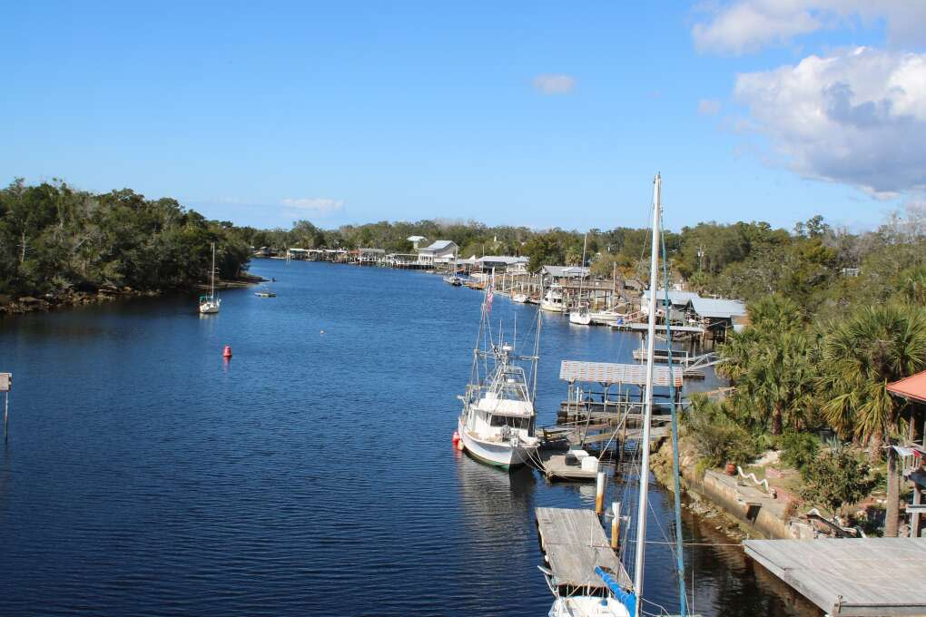 In the fishing village of Steinhatchee, worries seem to drift away on the tide.