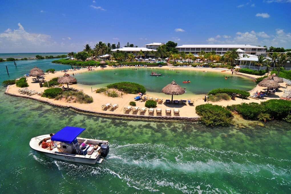 How's this for making a splash? Hawks Cay Resort has a saltwater lagoon, five swimming pools and a marina.