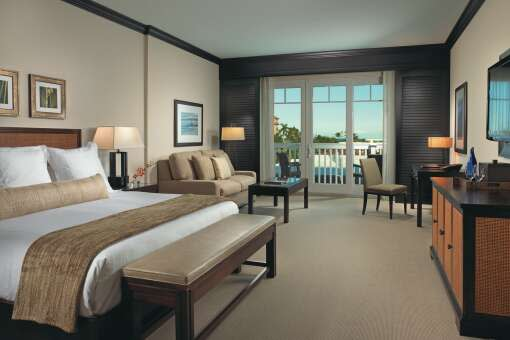 Guest room at the Seagate Hotel
