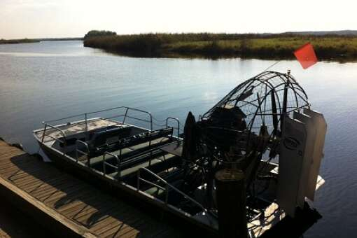 restaurant airboat rides at Lone Cabbage Fish Camp