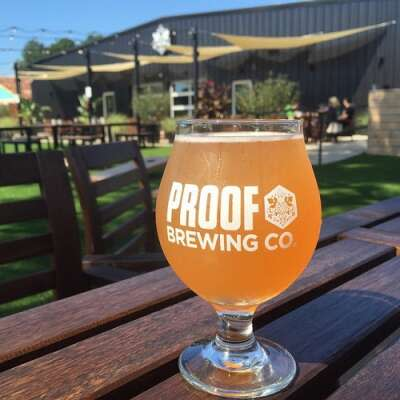 Enjoy the outdoor beer garden at Proof Brewing Company, Tallahassee