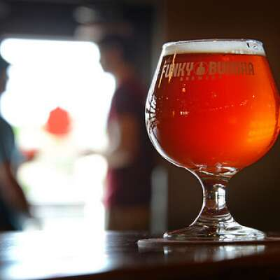 Funky Buddha Beer glass