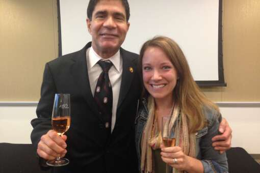Rachelle with Master Sommelier, George Miliotes.