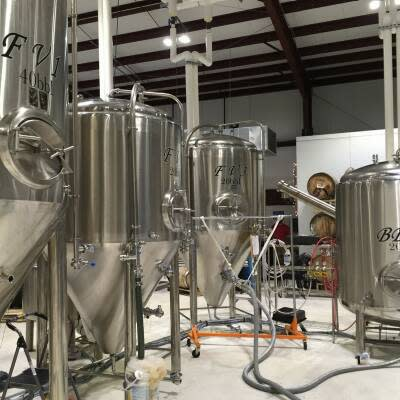 Inside the brewery at Idyll Hounds