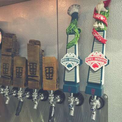 The taps at Idyll Hounds Brewing Co., South Walton