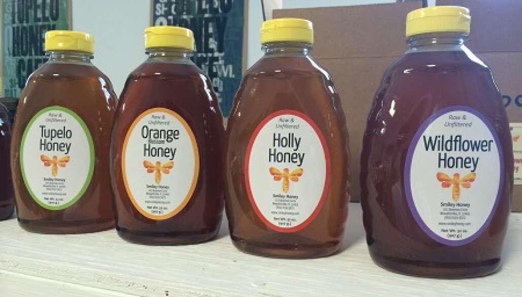 Several jars of Honey for sale