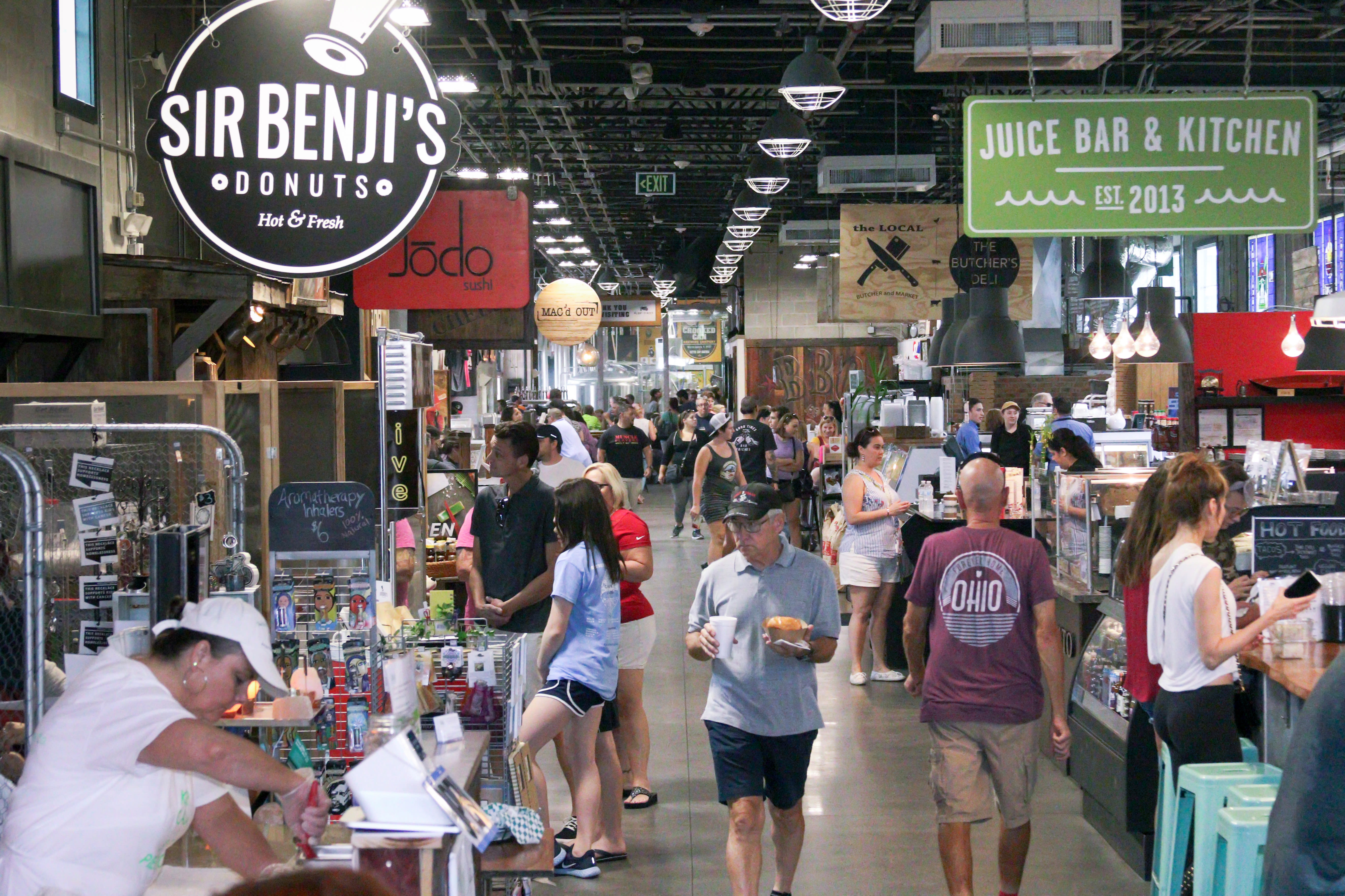 The Plant Street Market in downtown Winter Garden features nine eateries, beverages, snacks, gifts, shops and the Crooked Can Brewing Company.