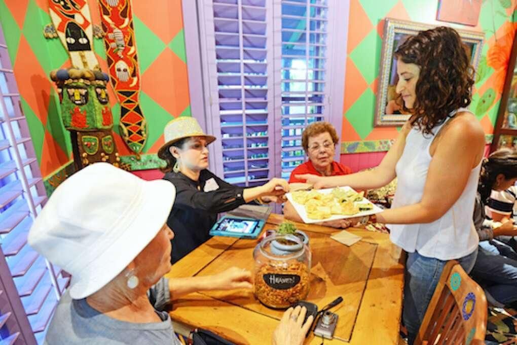 Shaffer's Tea Room serves empanadas, cookies and tea.