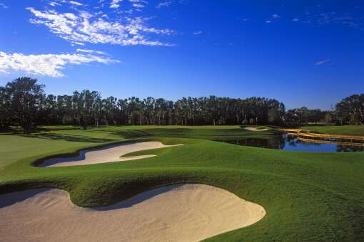 The Breakers' off-site golf getaway is the Rees Jones Course, a 7,104-yard layout that challenges scratch golfers just as much as 15-handicap amateurs.