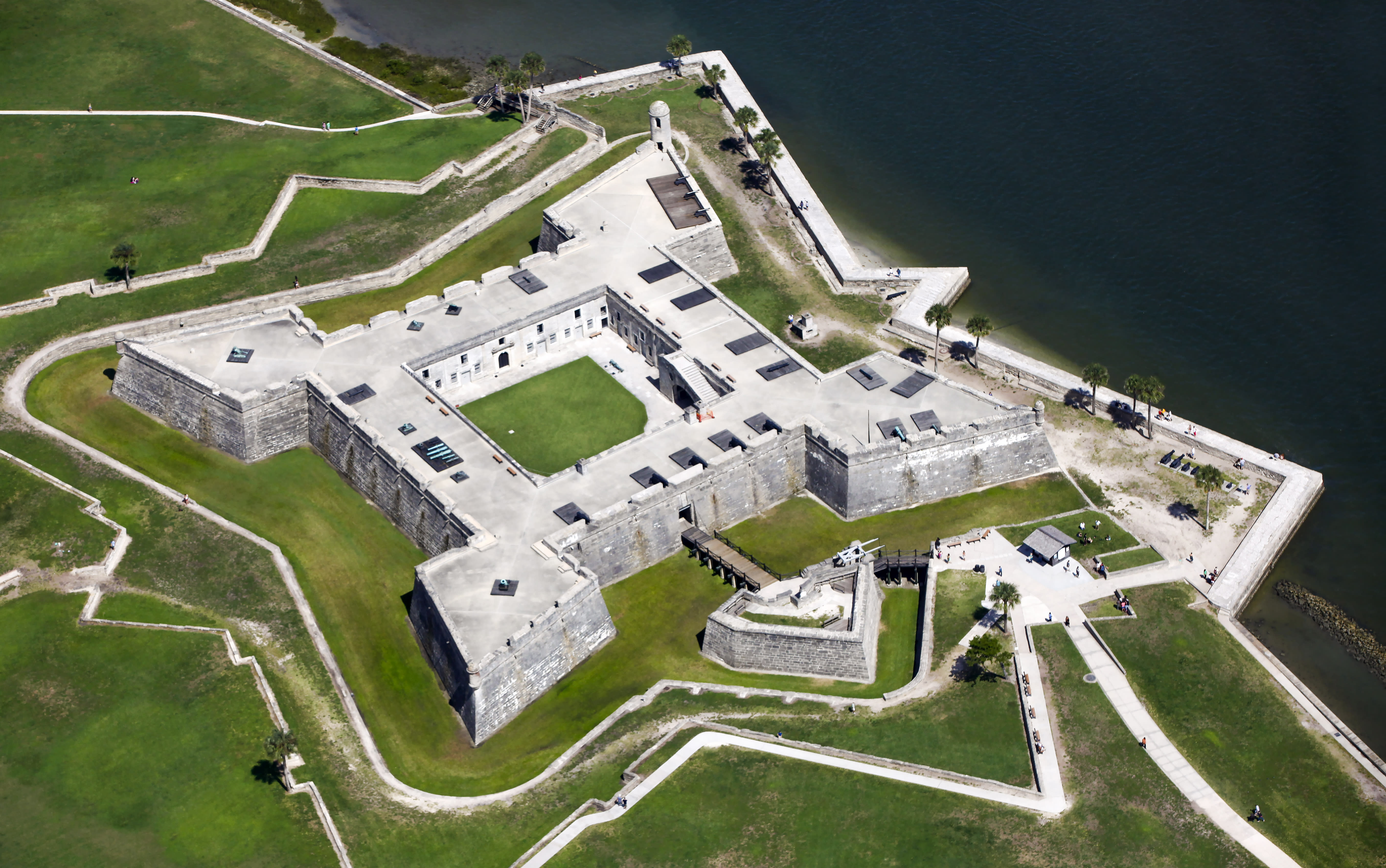 Aerial view of Castillo San Marco in St. Augustine