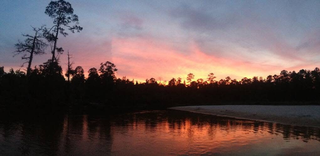 Sunset on the Blackwater River.