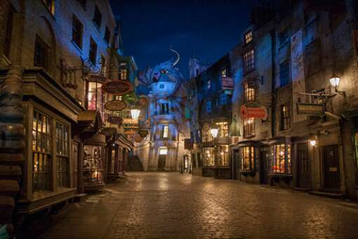 <a href='http://www.visitflorida.com/en-us/listings/004/a0t40000007qt0RAAQ.html'>Magic and Muggles - Universal Studios Islands of Adventure, Orlando</a>:  Explore more of the wizarding world than ever before at The Wizarding World of Harry Potter – Diagon Alley, NOW OPEN at Universal Studios Florida. Enter Diagon Alley from the streets of London. Dine at the Leaky Cauldron, see a wand choose a wizard at Ollivanders wand shop, and experience the excitement of the new multi-dimensional thrill ride, Harry Potter and the Escape from Gringotts. Guests with a park-to-park ticket will also be able to board the iconic Hogwarts Express and enjoy a unique journey as they travel between London and Hogsmeade.