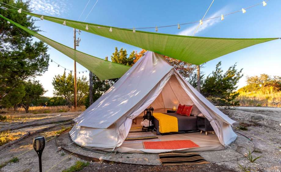Quirky bell tent: 3 hours and 54 minutes from Houston. Photo: GlampingHub.com