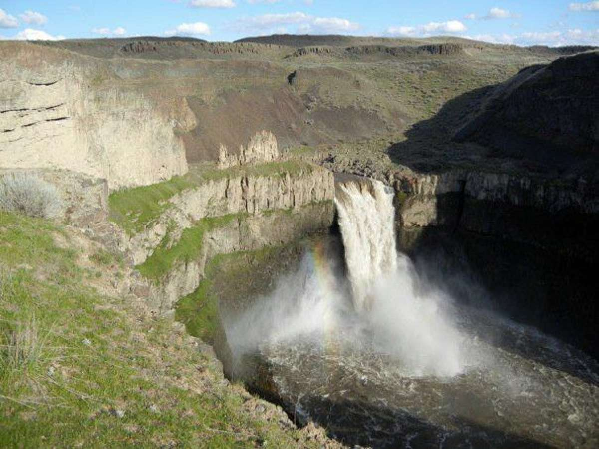 It's Washington's official state waterfall, out in semi-wilds of Eastern Washington, a little more than an hour's drive north from Walla Walla. The waterfall is 198 feet high, its canyon sculpted by enormous floods created by the Pleistocene-era bursting of Lake Missoula. The almost unimaginable volumes of water created Eastern Washington's coulees. Palouse Falls State Park is popular for its remoteness. There is camping. Expect a ranger to be on hand to check your Discover Pass.
