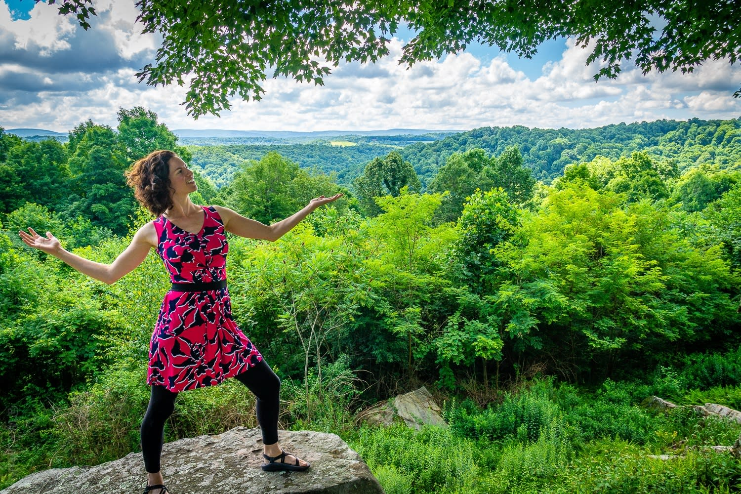 Behold the beautiful landscape of the Laurel Highlands in southwestern Pennsylvania!