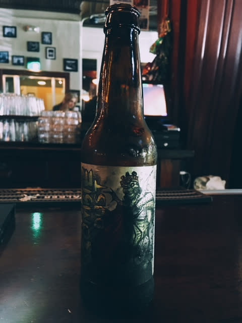A Zombie Dust beer at the Knickerbocker Saloon in Lafayette, Indiana.