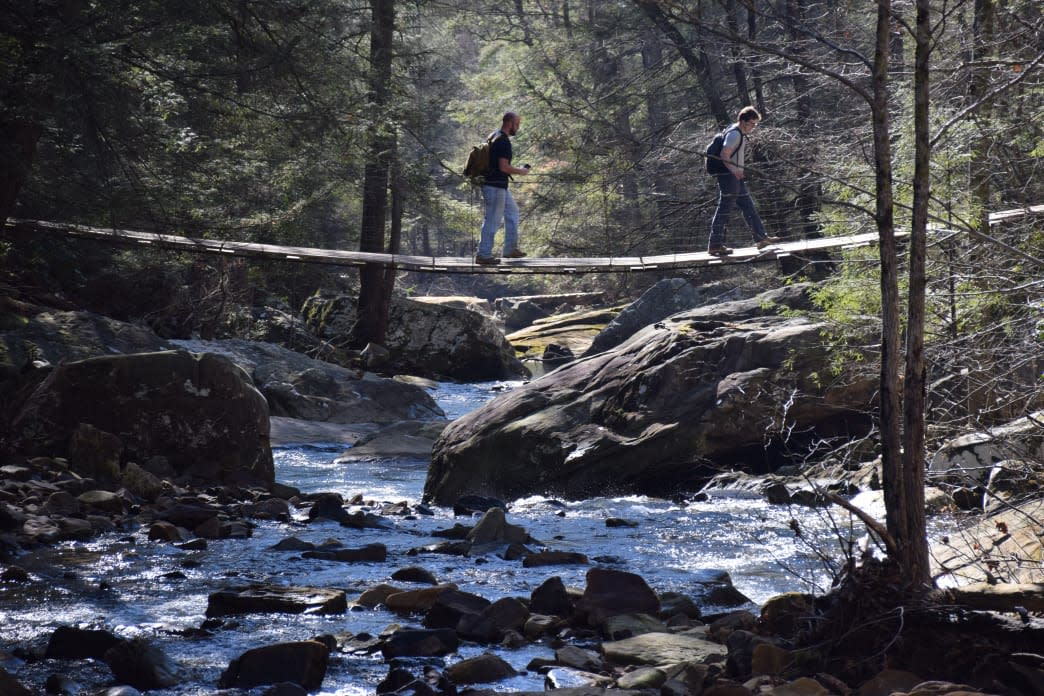 The Rainbow Lake Trail is just one of several that connect with the Cumberland Trail.     Rodger Ling