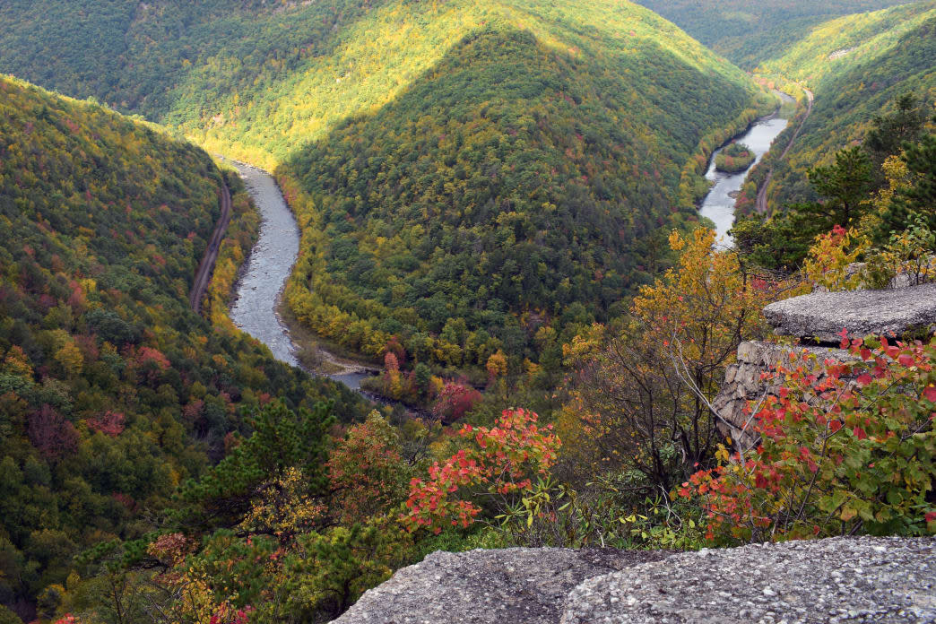Get a Glimpse of the Foliage at Tank Hollow outside of Jim Thorpe