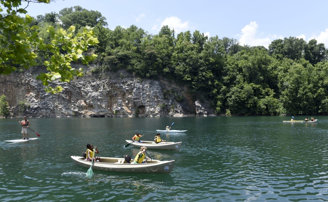 Paddling, and kayaking Knoxville Ijams Nature Center Meads Quarry