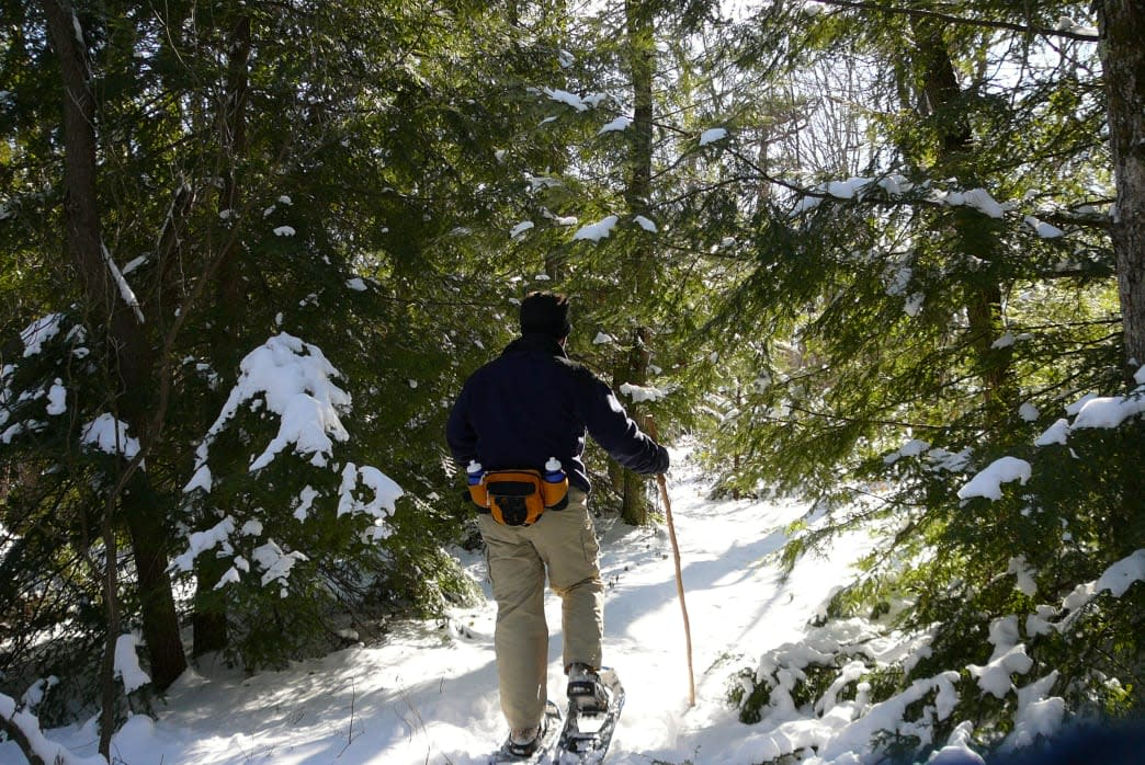 Traverse over the Pocono Mountains Terrain Snowshoeing