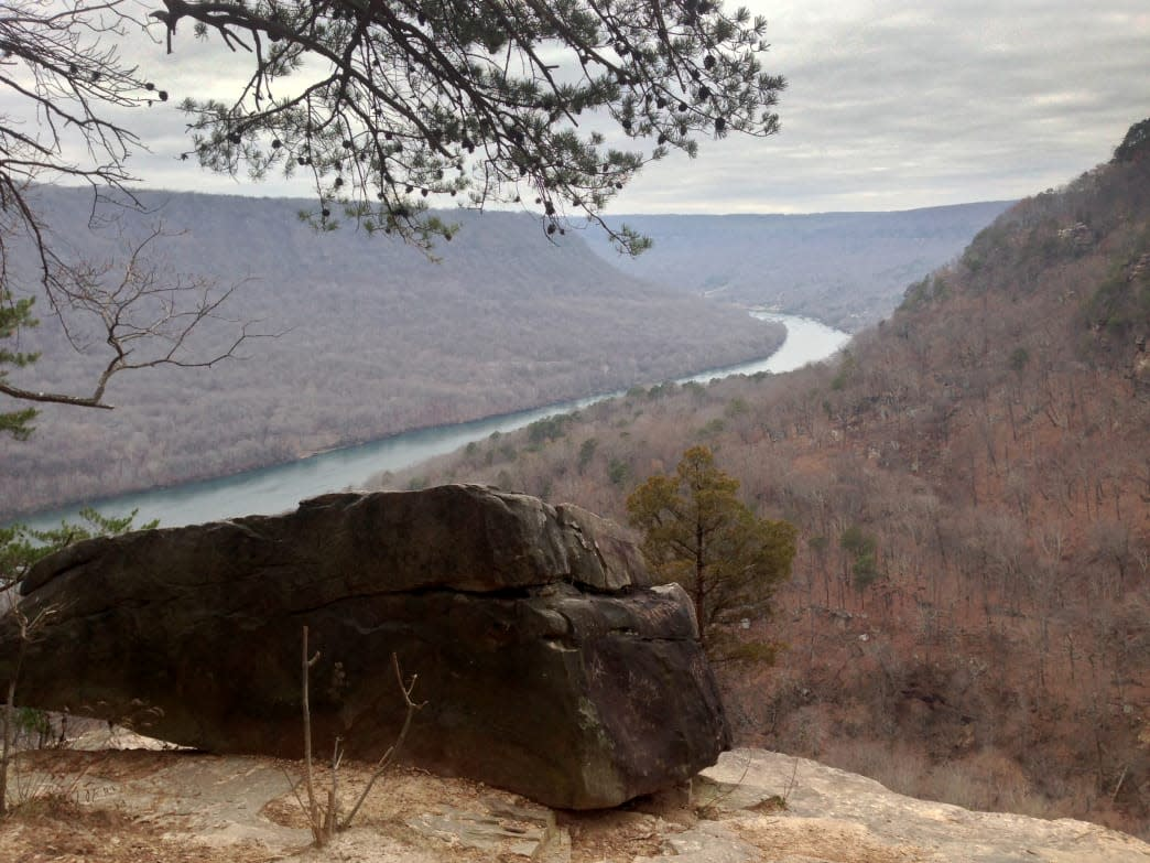The Julia Falls Overlook is one of the best views on the Cumberland Trail.     Rodger Ling