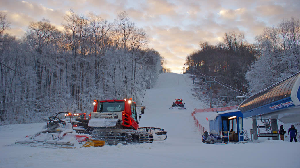 Pocono Mountains Snow Conditions and Snow Grooming