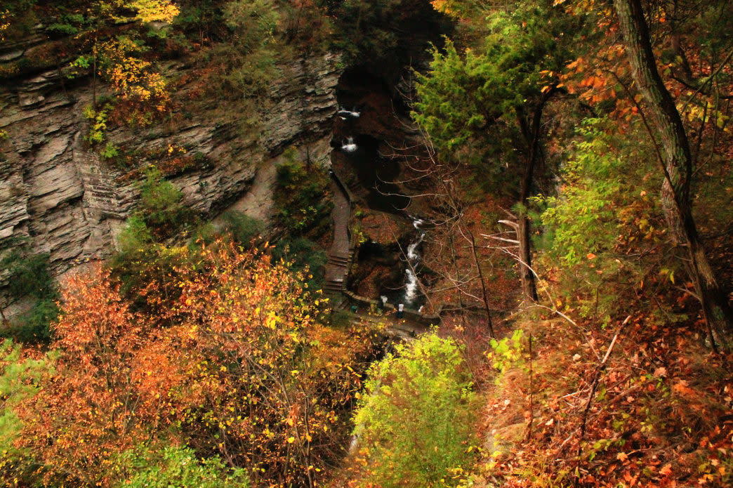 Mitchellsville Gorge is a wonderful fall hike with many waterfalls.
