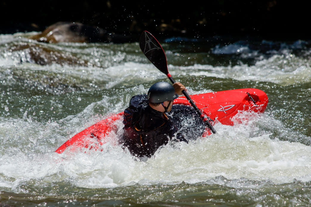 The dam-controlled Ocoee River, just an hour from Chattanooga, is one of the most popular spots for whitewater paddling in the country.     Angela Greenwell
