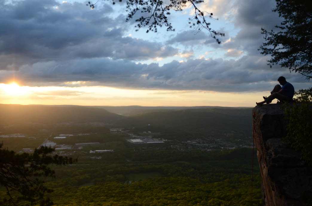 Sunset Rock offers one of the most iconic views of Chattanooga.