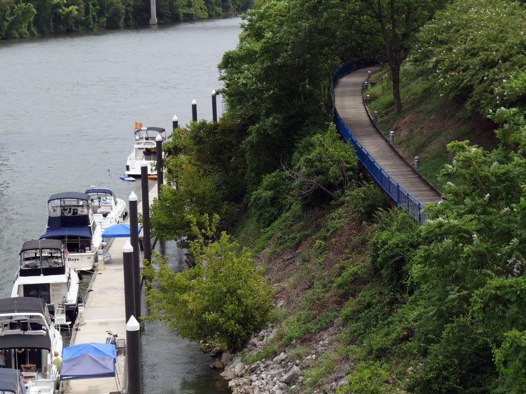 Chattanooga's Riverwalk features both natural and urban sections to enjoy.