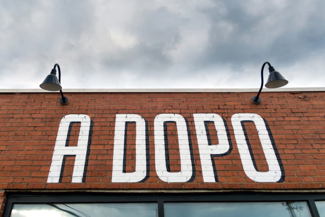 A large wood-fired oven inside A Dopo Pizzeria creates a not-to-be missed pizza.