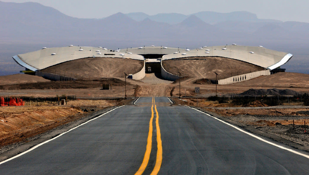 Spaceport America is the first commercial spaceport in the world.