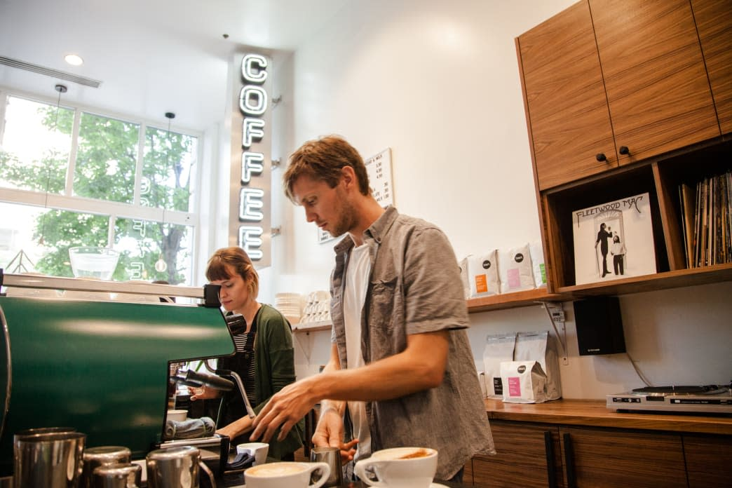 Three Pines Coffee owner Nick Price Serving Salt Lake - Rosie Serago