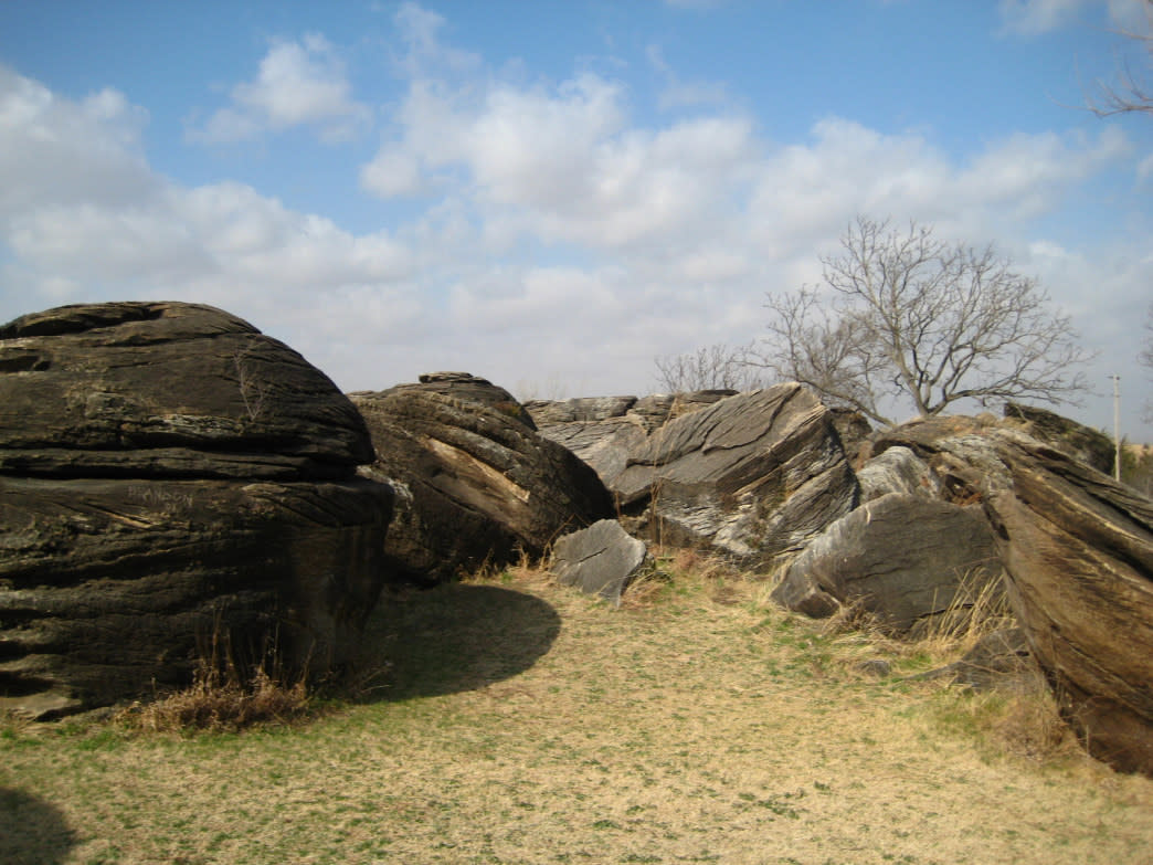 Bring your shoes and chalk bag to Rock City, where you'll find a couple hundred boulders to play on.