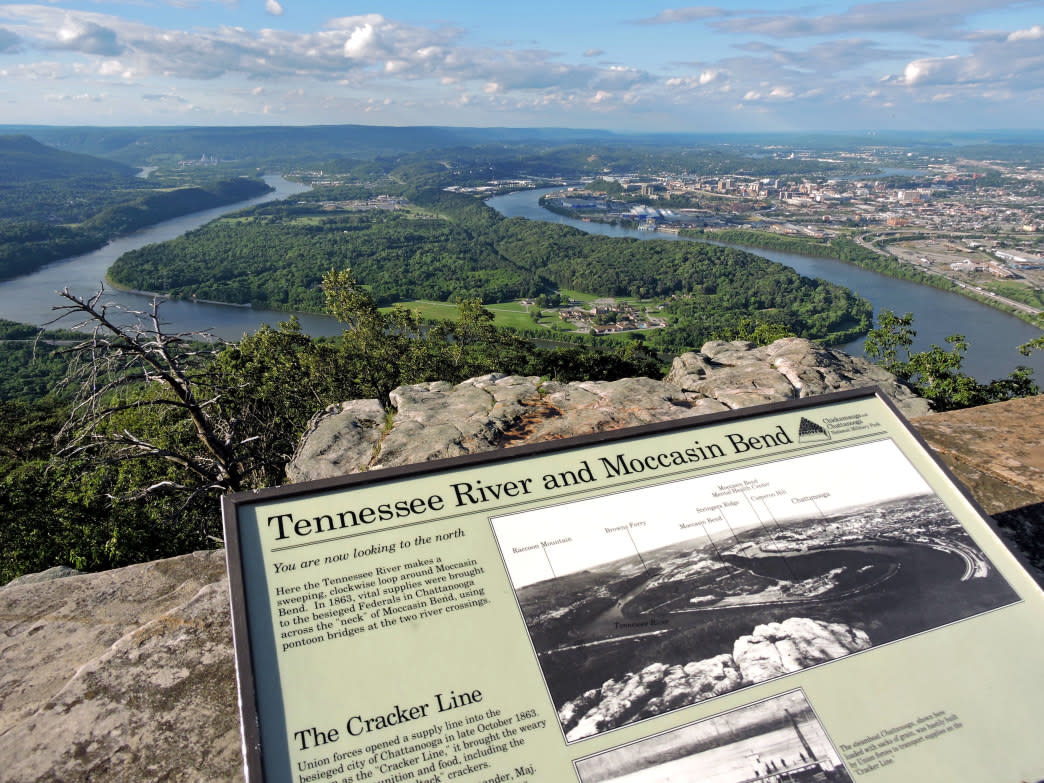 Moccasin Bend is one of Chattanooga's signature views.