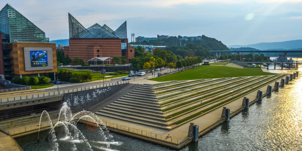 Tennessee Aquarium is one of the largest freshwater aquariums in the world.