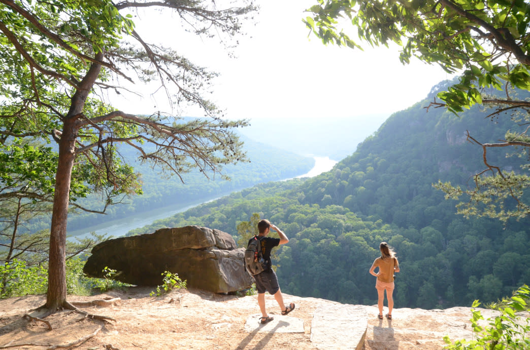 Soaking in the beauty of the Julia Falls Overlook.