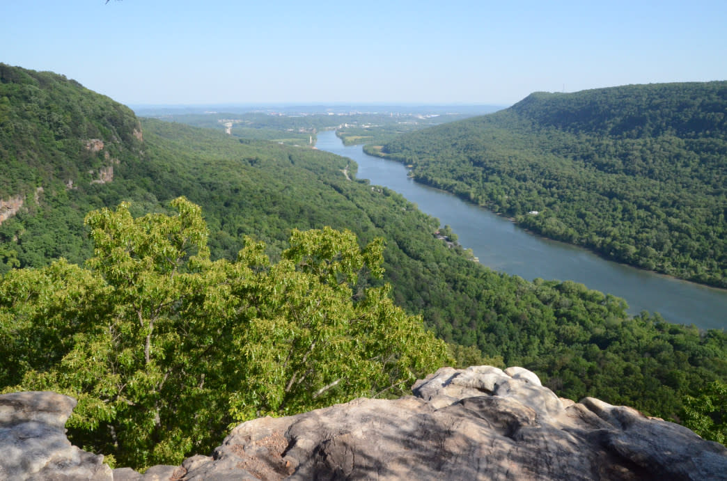Enjoying one of Chattanooga's best views.