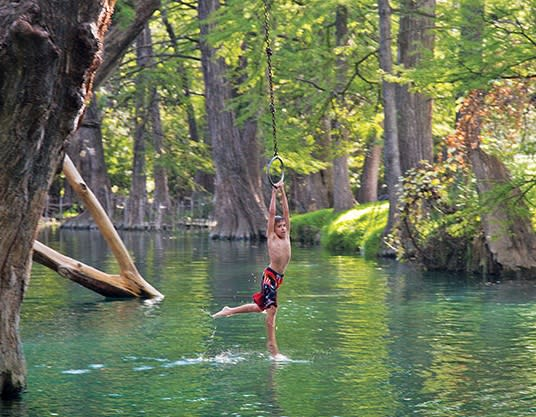 Blue Hole in Wimberly. (Photo by Will van Overbeek)