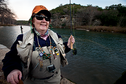 Each winter, men and women clad in multi-pocketed vests and clunky wading boots embark on fly-fishing excursions in the cool, shallow waters of the Guad, as the locals refer to it.
