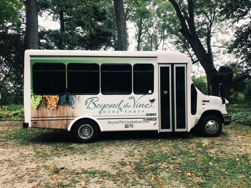Photo of the Beyond the Vine tour bus.