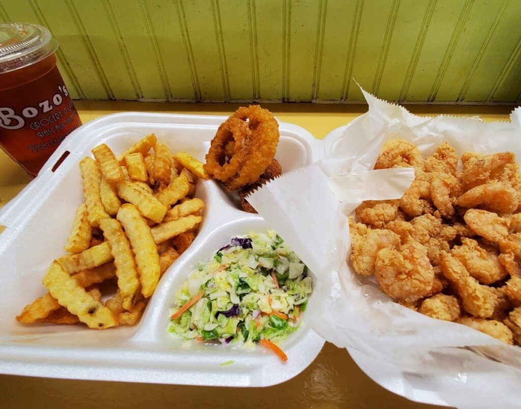 Shrimp from Bozo's Seafood.